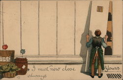 Storekeeper Closing Shop