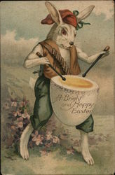 "A Bright and Happy Easter - Bunny with ""Egg"" Drum"