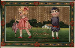 Valentine Greetings - young boy and girl