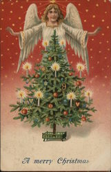 A merry Christmas with Tree and Angel