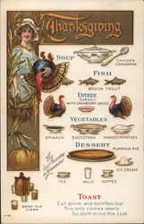 Thanksgiving Menu and Toast