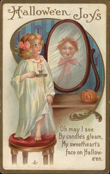 Halloween Joys, Oh may I see By candle's gleam, My sweetheart's face on Halloween