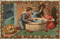 The Joys of Halloween with Children Bobbing for Apples