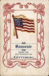 Souvenir Flag From the Battle of Gettysburg