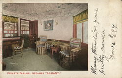 "Private Parlor, Steamer ""Albany"""