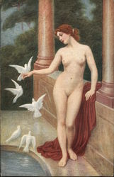 Woman and Doves