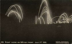 Night Scene on the British Front. July 1st 1916