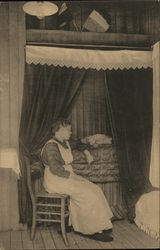 Albert's Dorp - Woman in Chair by Bed