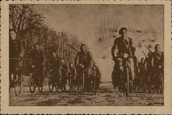 Soldiers on bicycles