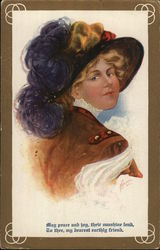 Woman Wearing Fancy Hat