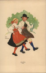 Girl and Boy in Swedish Costume
