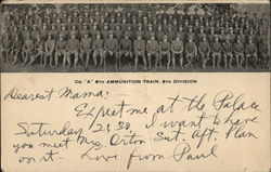 "Co. ""A"" 8th Ammunition Train, 8th Division"
