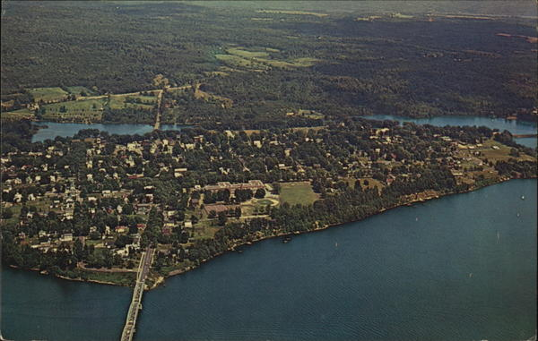 Aerial View of the City Northville New York