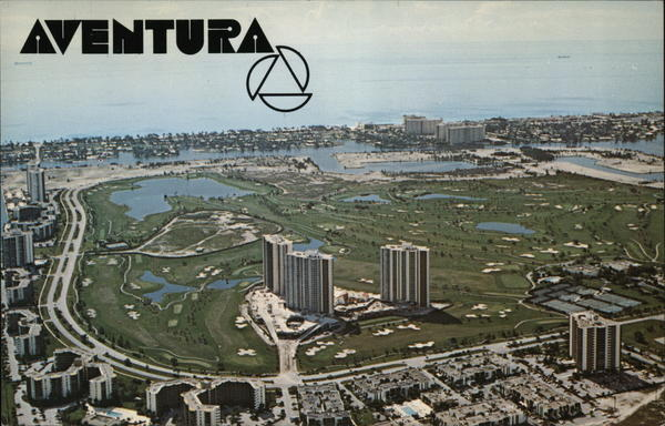 Aventura From the Air Miami Florida
