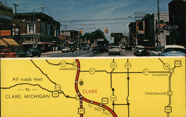 All Roads Lead to Clare Michigan