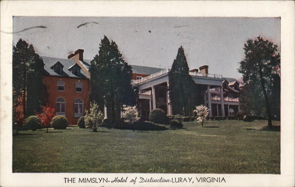 The Mimslyn Hotel Luray Virginia