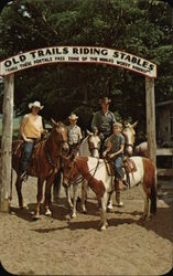 Old Trails Riding Stables Postcard