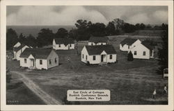 East Circle of Cottages, Dunkirk Conference Grounds Postcard