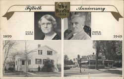 1899-1949 The Krebs 50th Anniversary Postcard