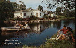 Boating at romantic Oak Grove Hotel and Motel Colony