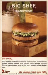 1971 Big Shef Sandwich - Burger Chef