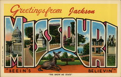 Greetings from Jackson Missouri Postcard