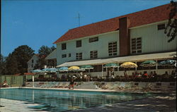 View of the Allen P. Beach Swimming Pool and Terrace, Basin Harbor Club