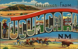 Greetings From Tucumcari, N.M. Postcard