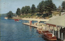 Boat Landing on Lake Winnipesaukee Postcard