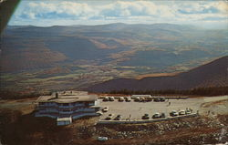 Mt. Equinox Aerial View of Sky Line Inn and Parking Area