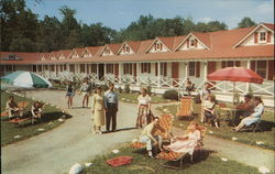 Honeymoon Cabanas at Mount Airy Lodge Postcard