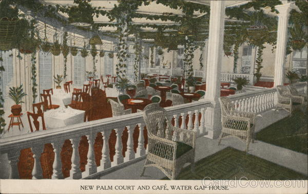 New Palm Court and Cafe, Water Gap House Delaware Water Gap Pennsylvania