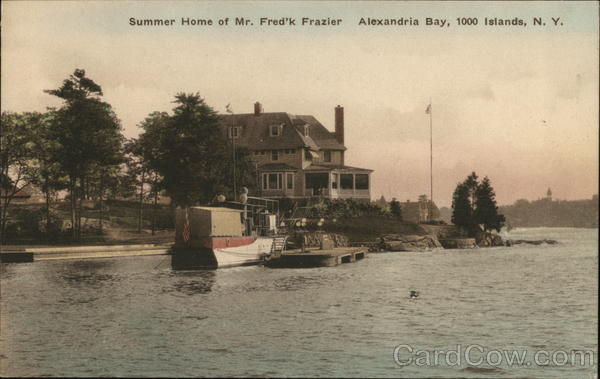 Summer Home of Mr. Fred'k Frazier Alexandria Bay New York