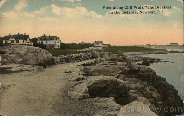 View Along Cliff Walk The Breakers in the Distance Newport Rhode Island