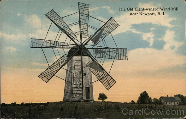 The Old Eight-Winged Wind Mill Newport Rhode Island