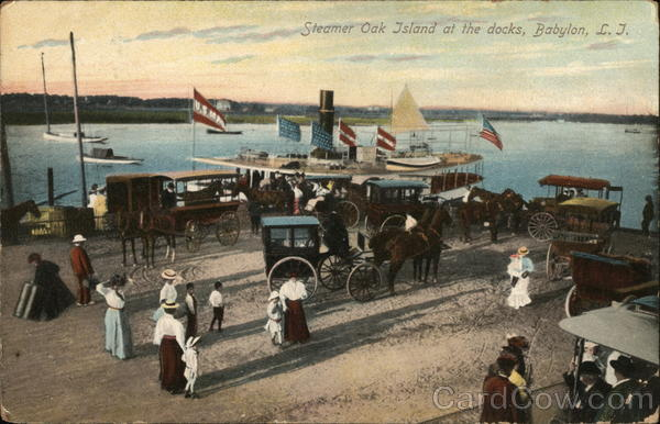 Steamer Oak Island at the Docks Babylon New York Long Island