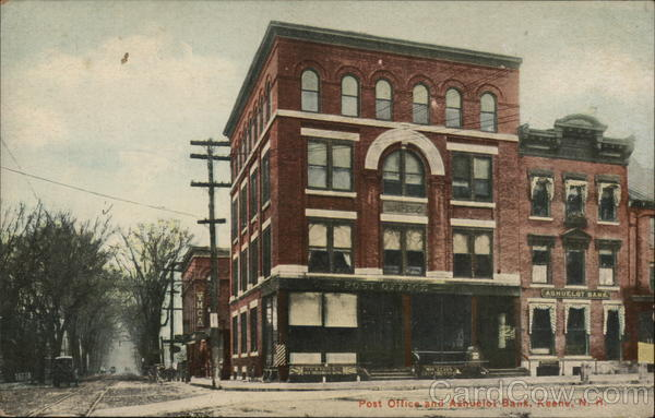 Post Office and Ashuelot Bank Keene New Hampshire