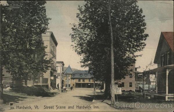 Street Scene and Hardwick inn