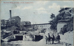 Pine Street Bridge and Locks as it was Postcard