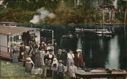 Family Outside Houseboat, St. Joe River
