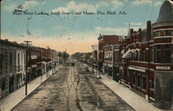 Main Street, looking South from Court House Postcard