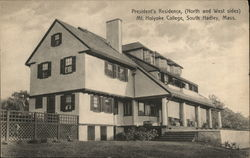 President's Residence, (North and West sides) Mt. Holyoke College