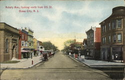 Asbury Avenue, looking North from 8th Street Postcard