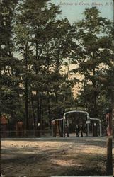 Entrance to Grove Postcard