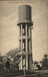 Concrete Water Tower Postcard