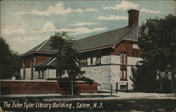 The John Tyler Library Building Postcard