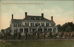 Departing Troops Passing Governor in Review