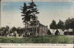Main Building of the Bay State Military Rifle Range Postcard
