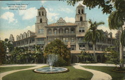 """Greetings from Jamaica"", Myrtle Bank Hotel"