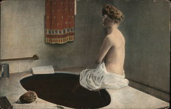 Woman With Towel at Mud Bath